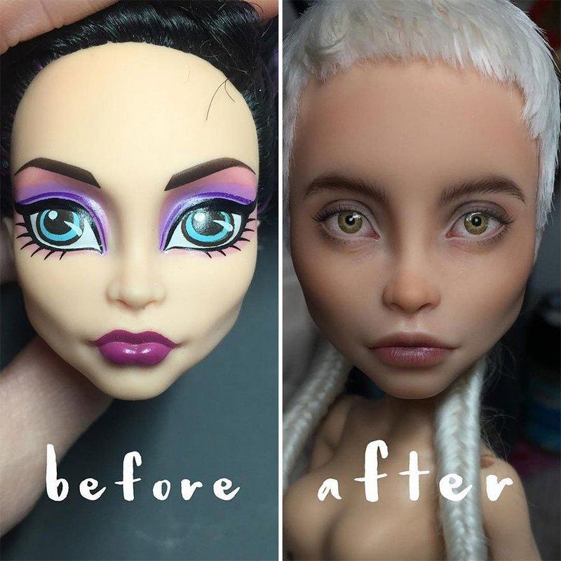 Украинская художница преобразует обычные куклы в реалистичные шедевры (2)
