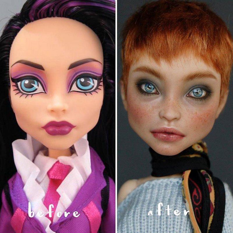Украинская художница преобразует обычные куклы в реалистичные шедевры (4)