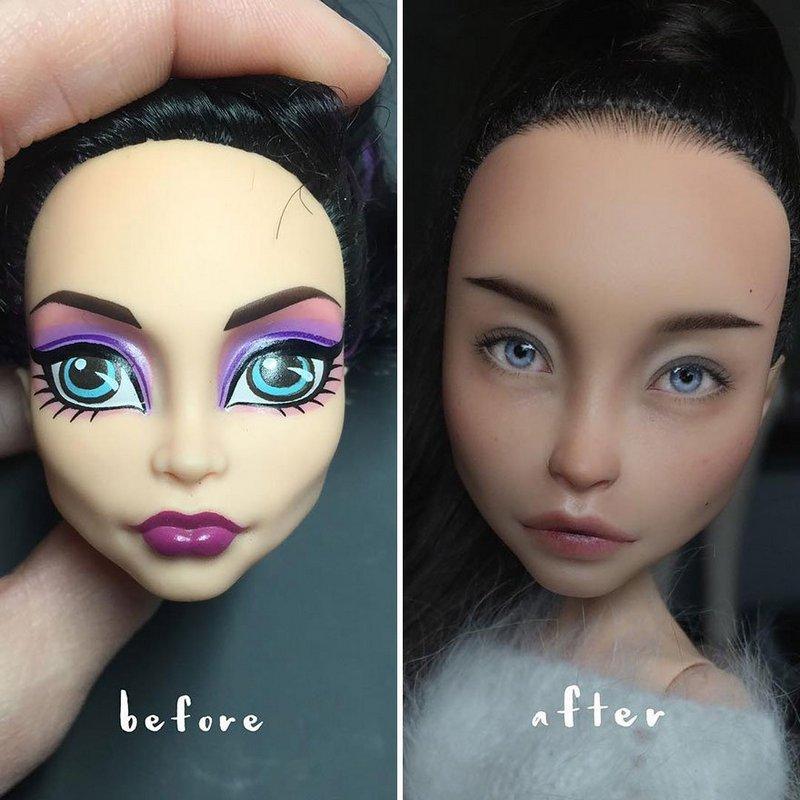 Украинская художница преобразует обычные куклы в реалистичные шедевры (8)
