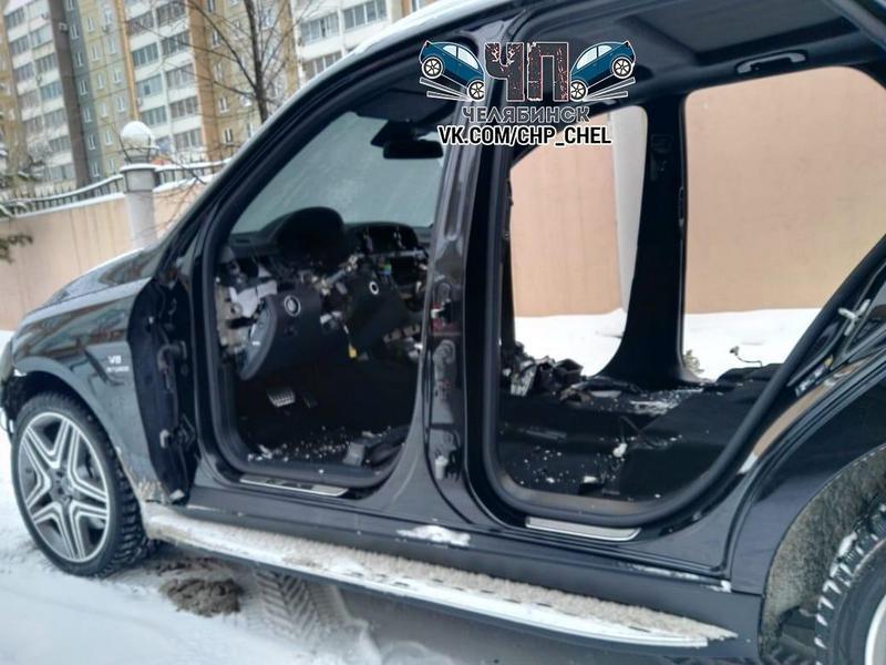 В Челябинске грабители за несколько часов разобрали Mercedes (3)