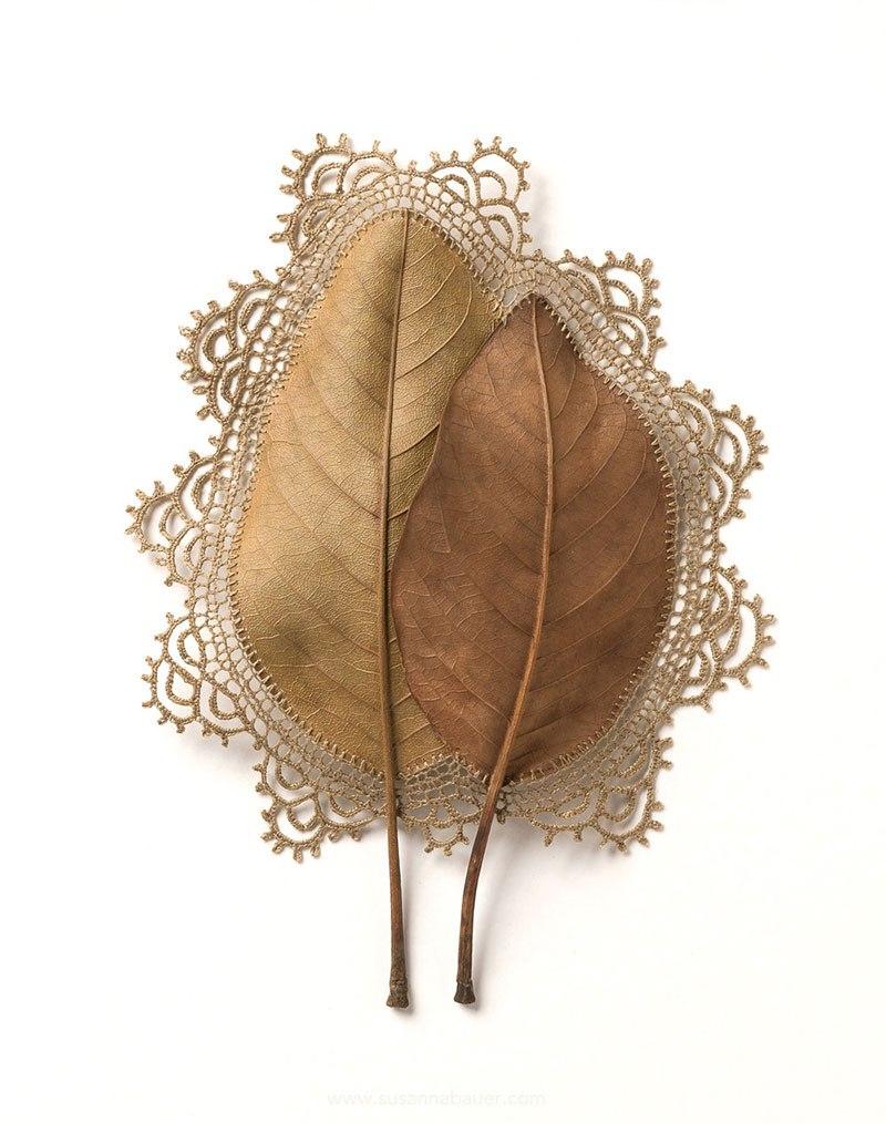 Искусство вязания крючком или новая жизнь опавших листьев (1)