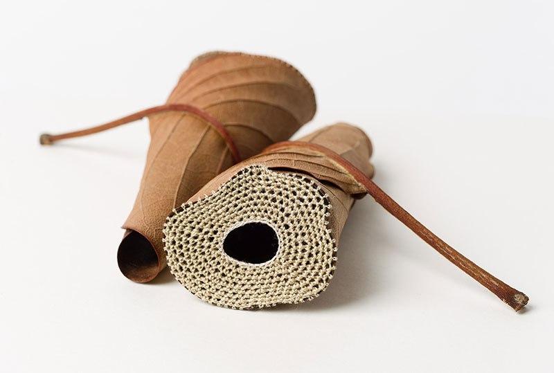 Искусство вязания крючком или новая жизнь опавших листьев (10)