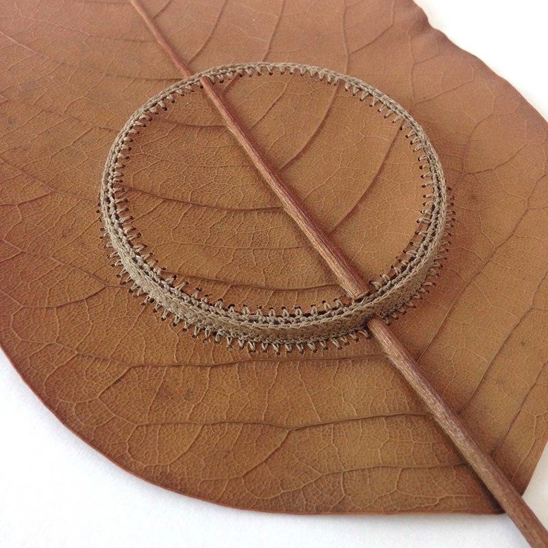 Искусство вязания крючком или новая жизнь опавших листьев (3)