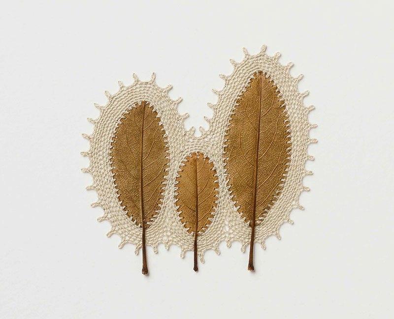 Искусство вязания крючком или новая жизнь опавших листьев (4)