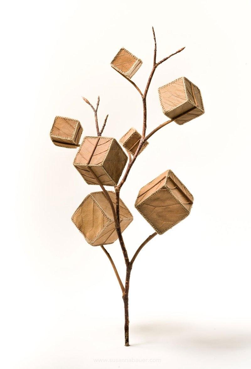 Искусство вязания крючком или новая жизнь опавших листьев (5)