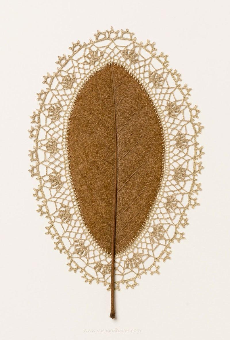 Искусство вязания крючком или новая жизнь опавших листьев (6)