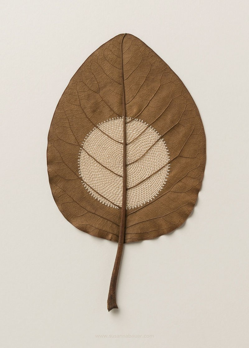 Искусство вязания крючком или новая жизнь опавших листьев (7)