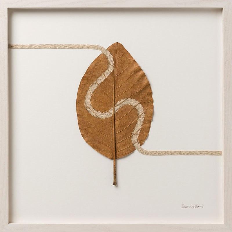 Искусство вязания крючком или новая жизнь опавших листьев (8)