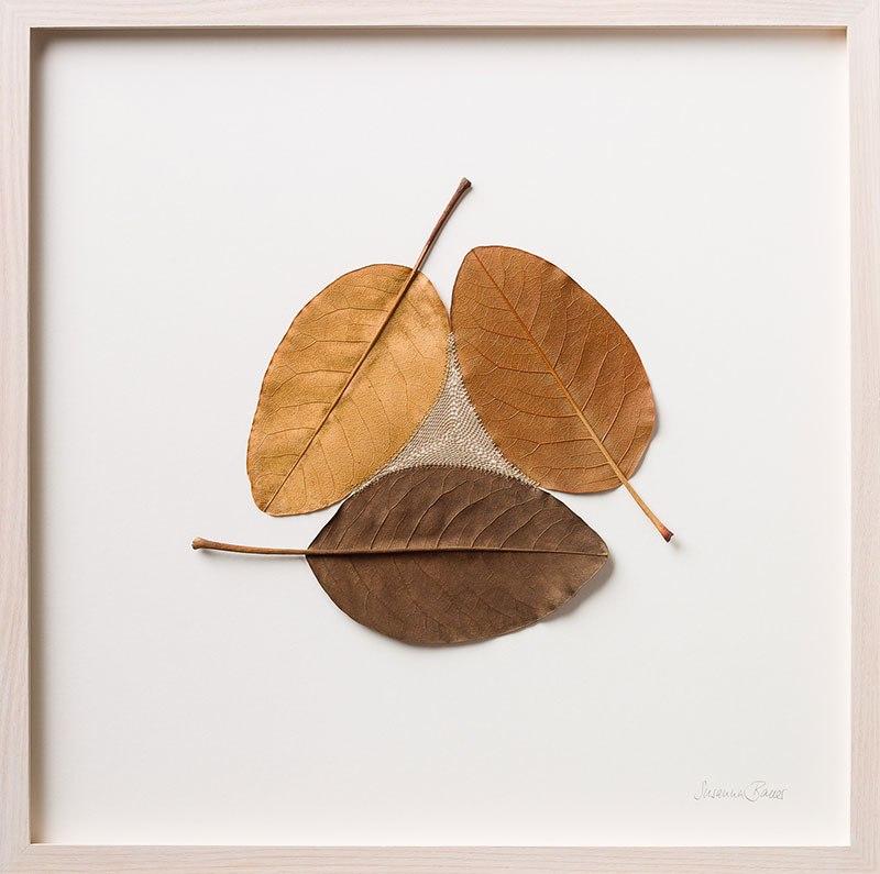 Искусство вязания крючком или новая жизнь опавших листьев (9)
