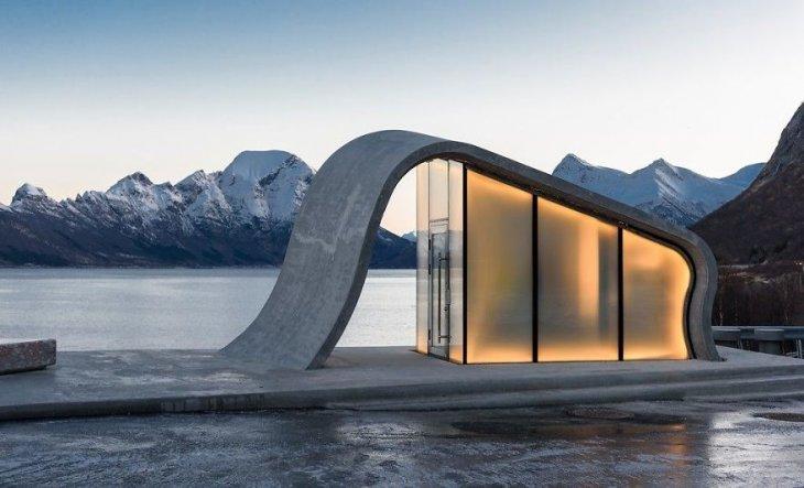 Самый необычный общественный туалет в Норвегии (1)