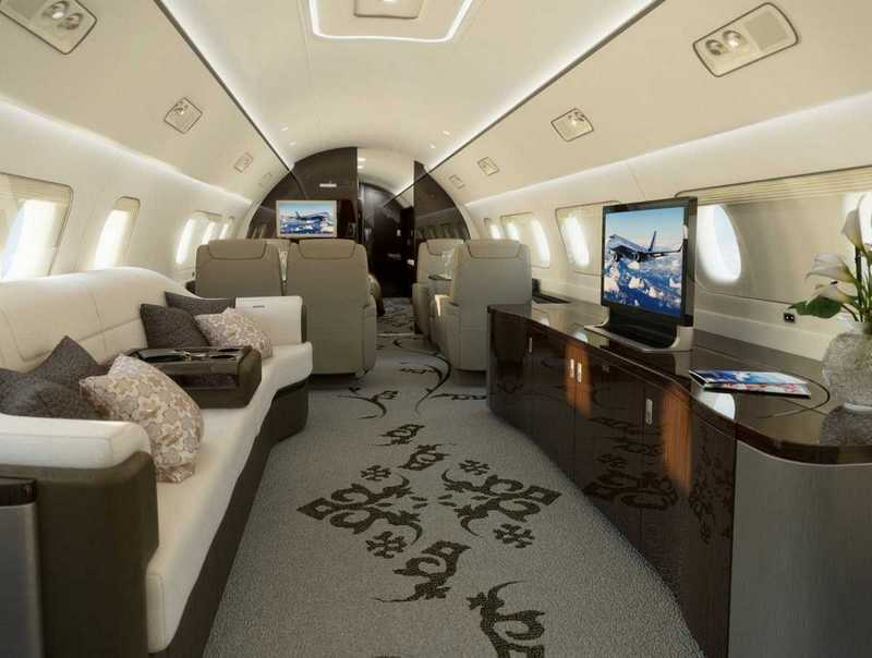 Пять самых роскошных интерьеров частных самолетов (10)