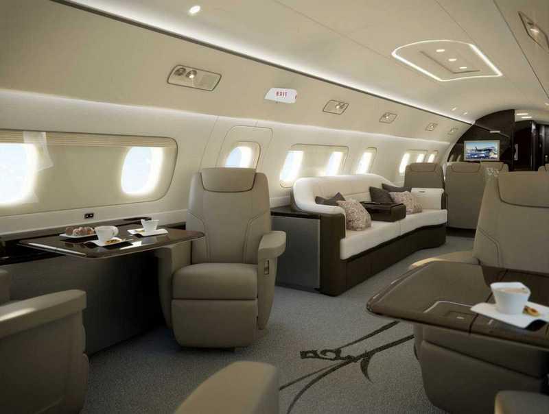 Пять самых роскошных интерьеров частных самолетов (11)