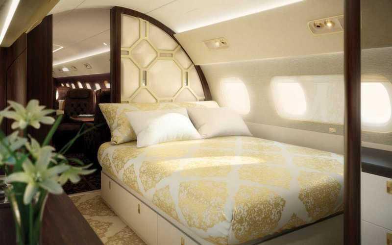 Пять самых роскошных интерьеров частных самолетов (12)