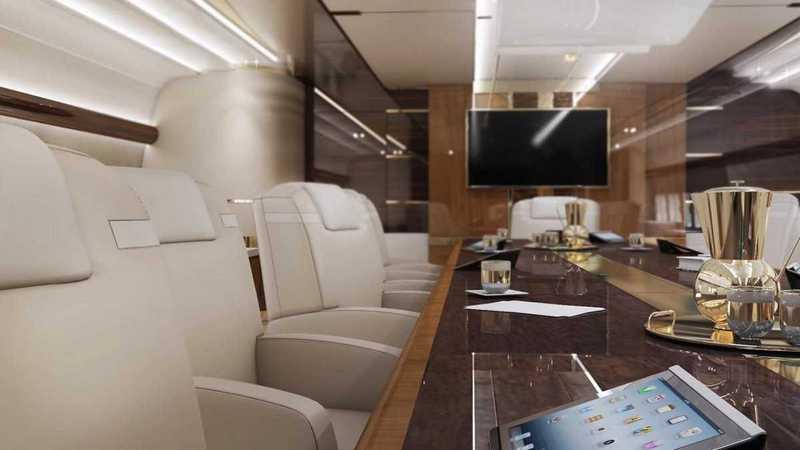 Пять самых роскошных интерьеров частных самолетов (15)