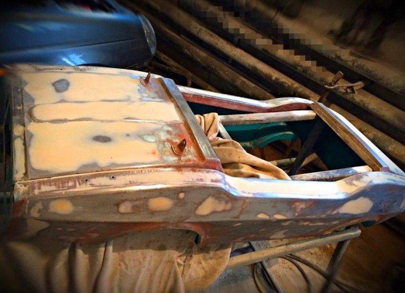 Реставрация детской педальной машины родом из СССР (3)