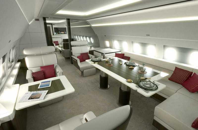 Пять самых роскошных интерьеров частных самолетов (4)