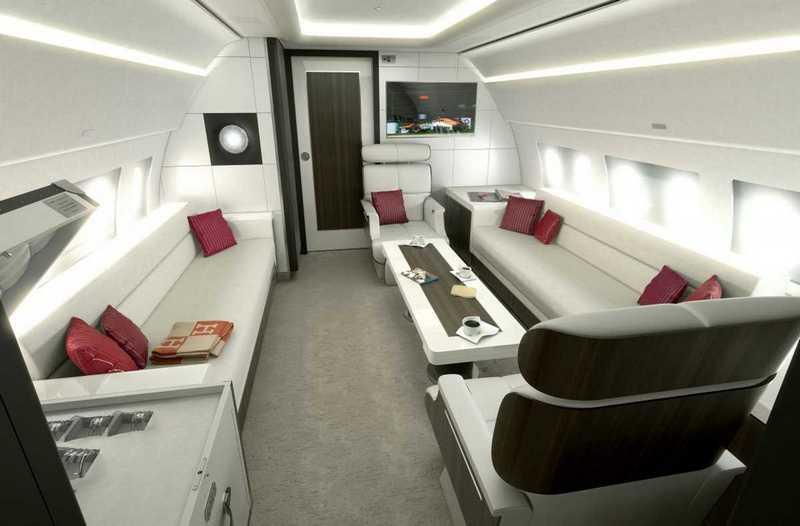 Пять самых роскошных интерьеров частных самолетов (5)