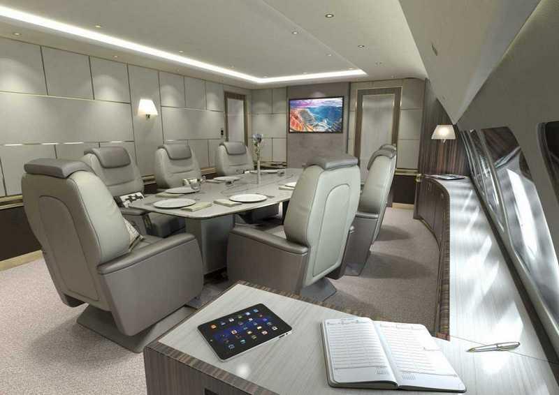 Пять самых роскошных интерьеров частных самолетов (6)