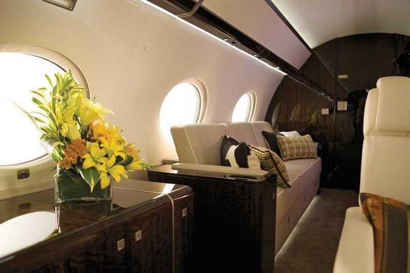 Пять самых роскошных интерьеров частных самолетов (7)
