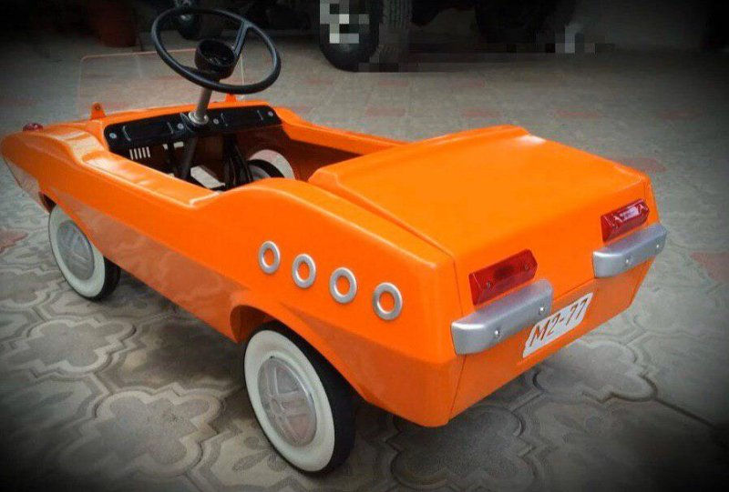 Реставрация детской педальной машины родом из СССР (8)
