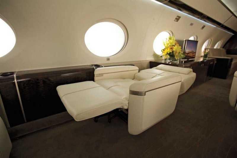 Пять самых роскошных интерьеров частных самолетов (9)