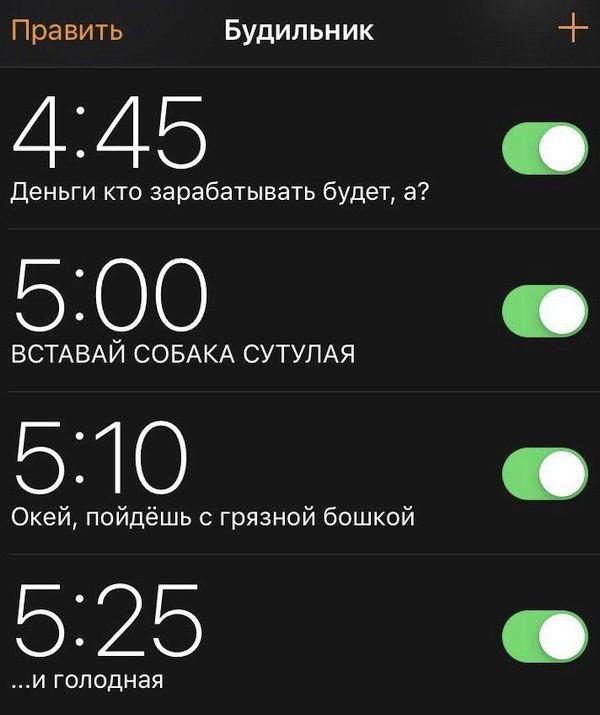 Как я ставлю будильник