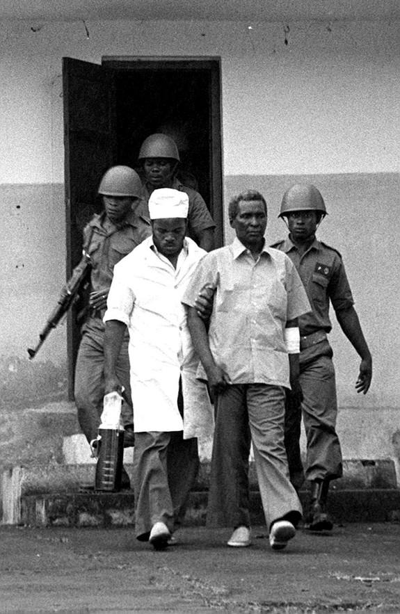 Пожизненный президент Экваториальной Гвинеи перед казнью, 1979 год