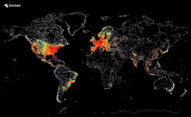 Карта подключений к сети интернет