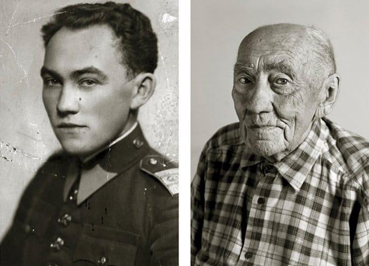 Фото долгожителей в молодости и сейчас